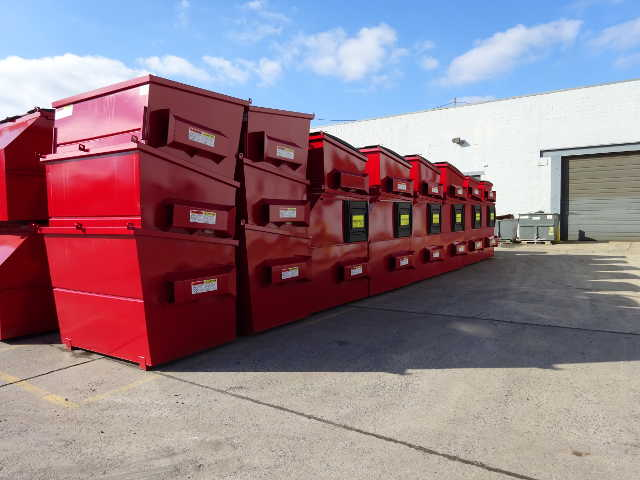 Stack of Rear Load Containers