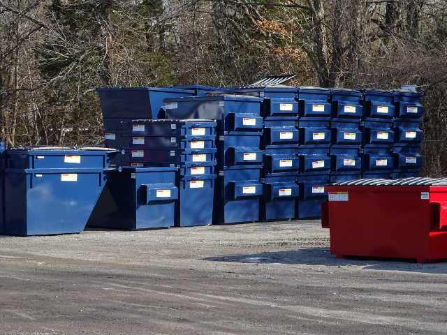 Stack of Front Load Containers