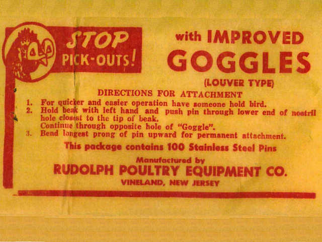 Goggle Instructions